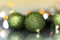 Christmas tree ornaments and balls Stock Photos