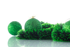 Christmas tree ornaments and balls Royalty Free Stock Photo