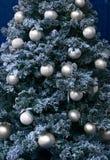Christmas tree ornaments on Christmas tree Stock Photography