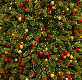 Christmas tree. With ornaments closeup royalty free stock images