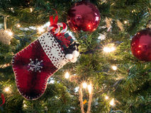 Christmas tree ornaments Stock Photography