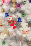 Christmas tree with ornaments. Christmas tree with ornaments decoration Royalty Free Stock Photography