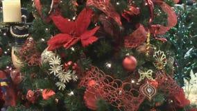 Christmas tree ornaments decoration stock video