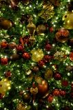 Christmas Tree Ornaments Decorations Celebrating Holidays stock photo