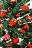 Christmas tree ornaments detail stock photos