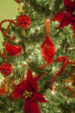 Christmas tree and ornaments Royalty Free Stock Photos