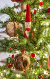 Christmas tree and ornaments Stock Images