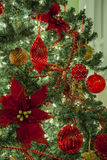 Christmas tree and ornaments Royalty Free Stock Images