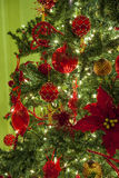 Christmas tree and ornaments Royalty Free Stock Image
