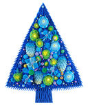 Christmas tree with ornaments, Stock Photo