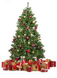 Christmas tree with ornaments. And gifts Royalty Free Stock Image