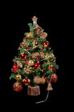 Christmas tree with ornaments and gifts 5 Royalty Free Stock Images