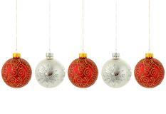 Christmas tree ornaments hanging Stock Photos