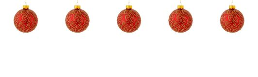 Christmas tree ornaments hanging Stock Images