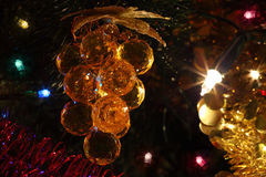 Christmas tree ornaments, illuminations Stock Images
