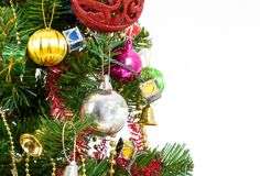 Christmas tree ornaments. Isolate on white Stock Image