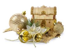 The christmas tree ornaments isolated Royalty Free Stock Image