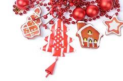 The christmas tree ornaments isolated Stock Photos