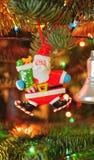 Christmas tree ornaments - jolly Santa Claus Stock Photography