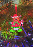 Christmas tree ornaments - Rudolph the reindeer Stock Image