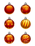 Christmas Tree Ornaments vector illustration