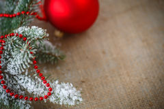 Christmas tree with ornaments Stock Photos