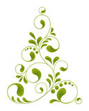 Christmas tree. Ornate tree for design isolated on a white background Stock Photo