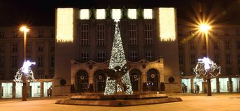 Christmas tree in the Ostrava Royalty Free Stock Photography