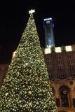 Christmas tree in Ostrava Royalty Free Stock Photos