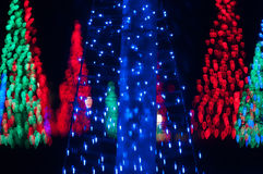 Christmas tree out of focus Royalty Free Stock Images