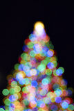 Christmas Tree with Out of Focus Lights Stock Photo