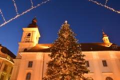 Christmas tree outdoor Stock Photo