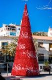 Christmas tree outdoors Stock Photo