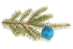 Christmas tree outfit with a decorative ball. Stock Photos
