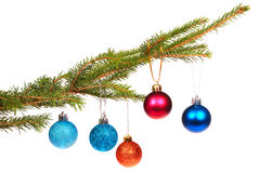 Christmas tree outfit with a decorative color ball. Stock Images