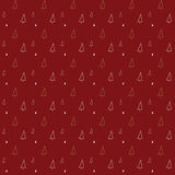 Christmas tree, outline drawing, pattern on red background. For gift wrapping paper Stock Photography