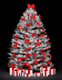 Christmas tree over the black 3d Stock Images