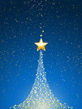 Christmas tree over blue portrait Stock Photography