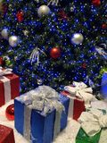 Christmas tree and packages Royalty Free Stock Photography
