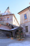 Christmas tree in palace in Cesky Krumlov Stock Images