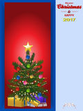 Christmas tree panel and copy space Stock Image