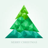 Christmas Tree. Paper art. Royalty Free Stock Photo