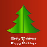 Christmas Tree Paper Background Stock Images