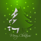 Christmas tree paper card Royalty Free Stock Photography