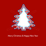 Christmas tree with paper clips. For pleasure royalty free illustration