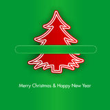 Christmas tree with paper clips Royalty Free Stock Photos