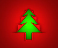 Christmas tree paper curl Stock Images