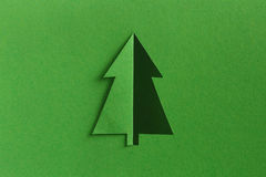 Christmas tree paper cut Stock Photos