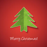 Christmas tree paper design Stock Image