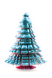 Christmas tree from the paper and gold Royalty Free Stock Images